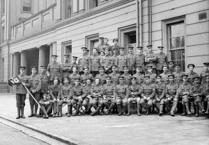 Irish Guards at Wellington Barracks - 1914 (Leo could well be amongst them)